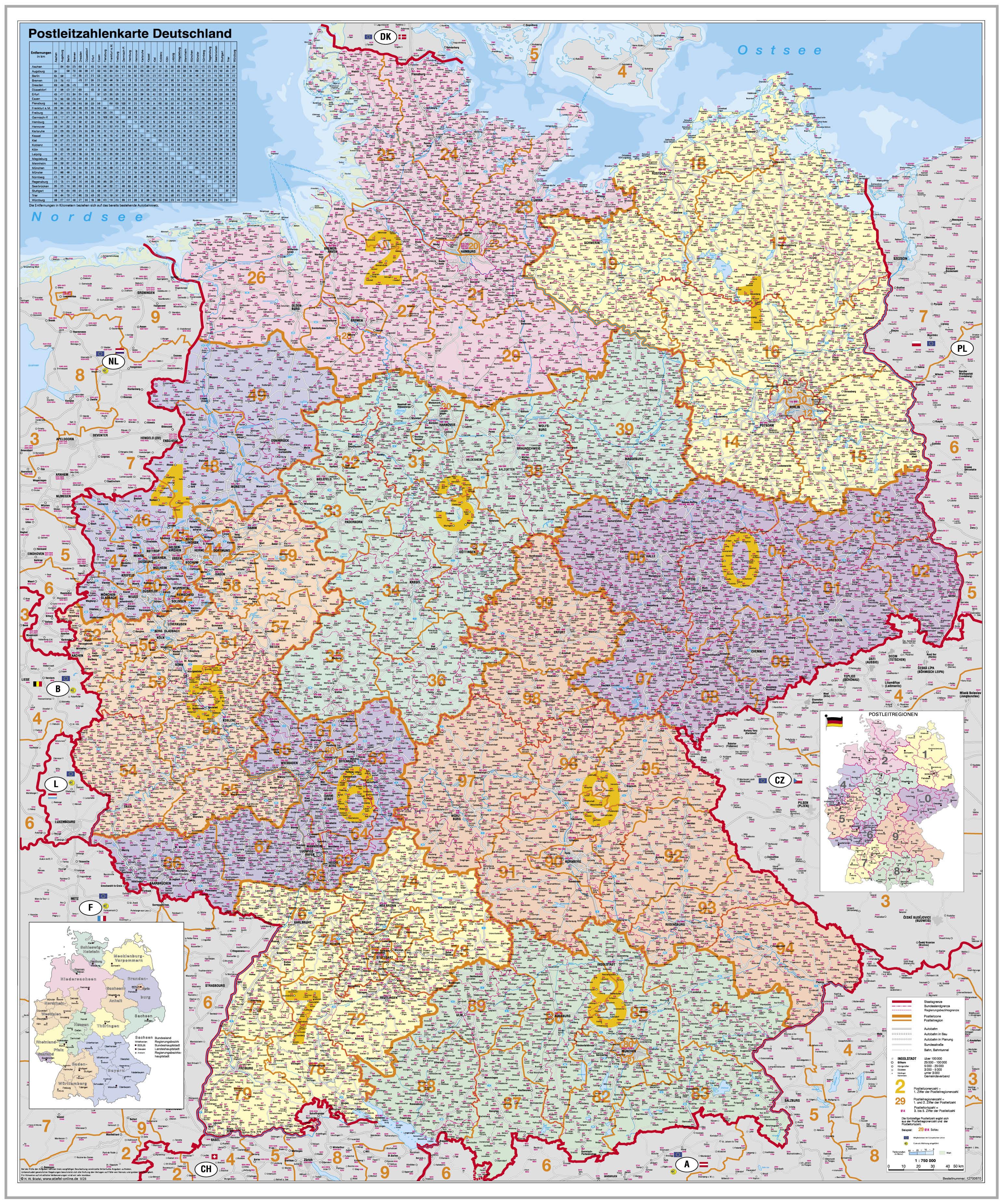 karte deutschland online Postleitzahlenkarte Deutschland   Stiefel