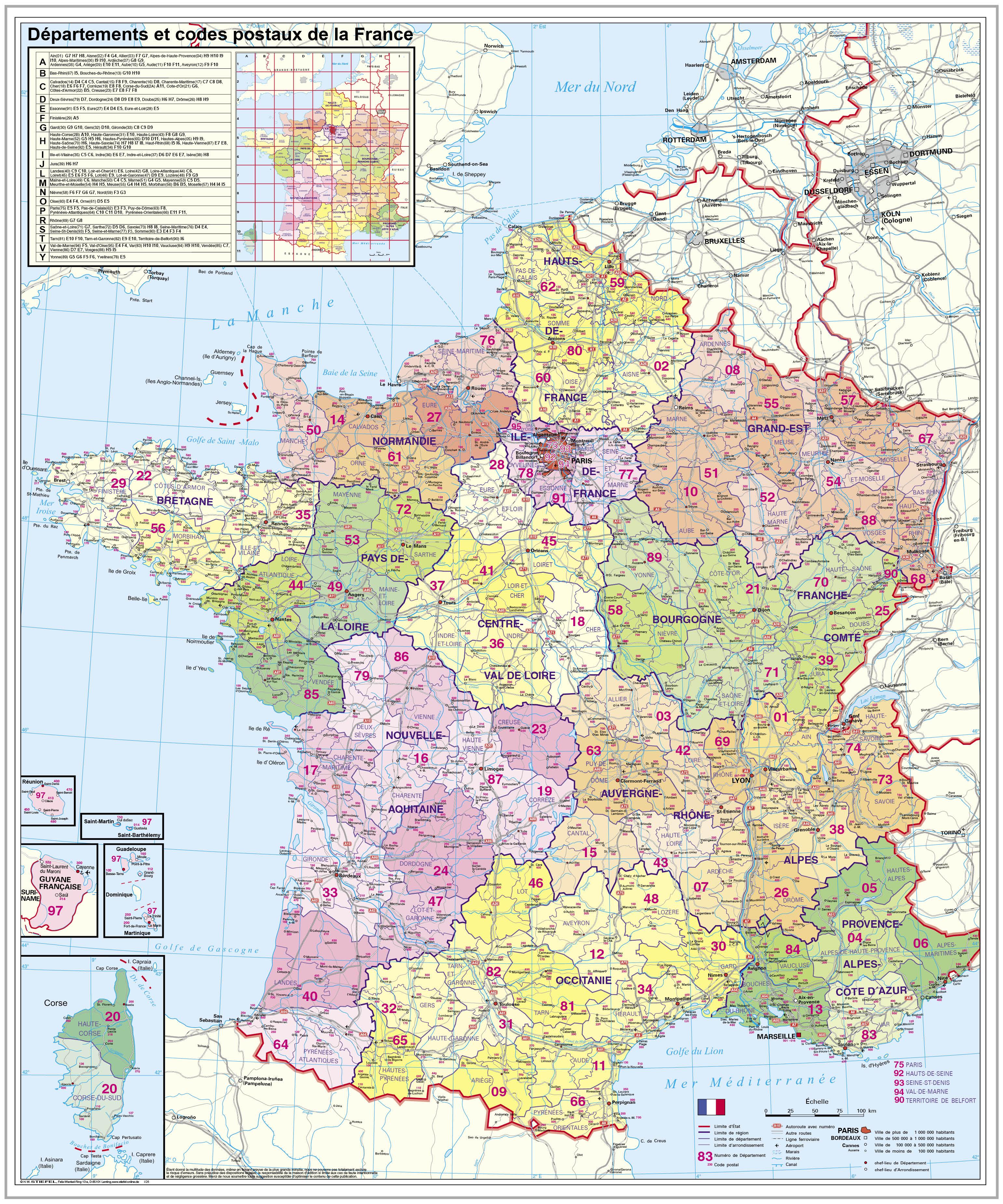Departementkarte Plz Frankreich Stiefel