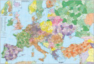 C1.1_Europa mit Türkei – Straßen und PLZ